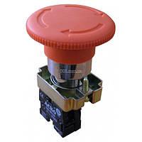 Кнопка «грибок» с фиксацией (1НЗ, возврат поворотом) XB2-BS642, АСКО-УКРЕМ, A0140010083