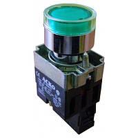 Кнопка с подсветкой без фиксации (1НО) зеленая XB2-BW3371, АСКО-УКРЕМ, A0140010021