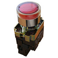 Кнопка с подсветкой без фиксации (1НЗ) красная XB2-BW3471, АСКО-УКРЕМ, A0140010022