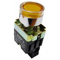 Кнопка с подсветкой без фиксации (1НО) желтая XB2-BW3571, АСКО-УКРЕМ, A0140010053