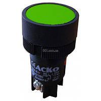 Кнопка с фиксацией (1НО+1НЗ) зеленая XB2-EH135, АСКО-УКРЕМ, A0140010041