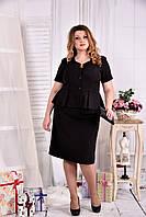 Элегантный черный костюм двойка 0547-3