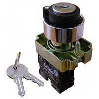 Переключатель на 3 положения с ключом XB2-BG33, АСКО-УКРЕМ, A0140010010