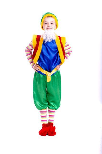 Детский карнавальный костюм Гном синего цвета