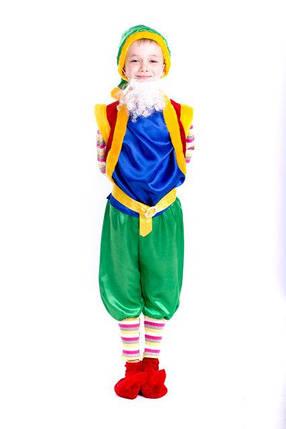 Детский карнавальный костюм Гном синего цвета, фото 2
