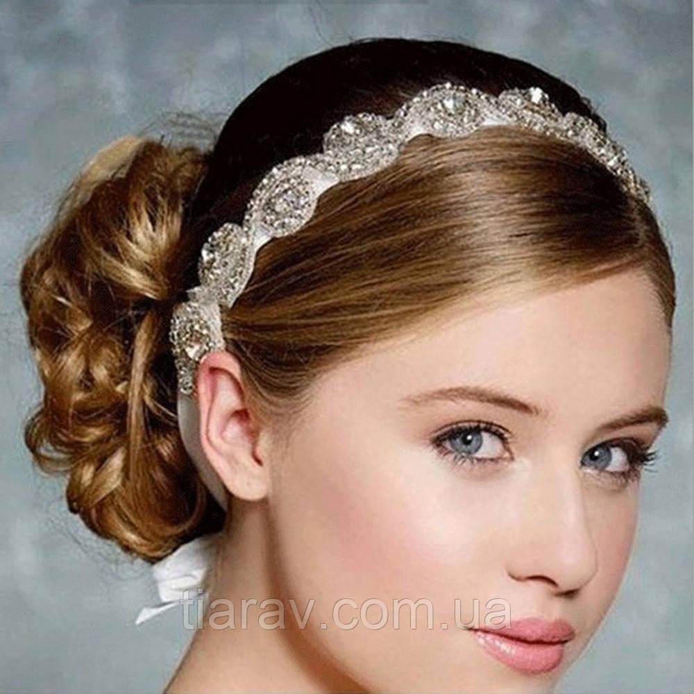 Віночок діадема ХІЗЕР весільна тіара для волосся аксесуари прикраси для волосся