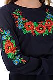 Подростковое платье-вышиванка (темно-синие), фото 5
