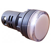 Светосигнальная арматура AD22-22DS белая 24В АC/DC, АСКО-УКРЕМ, A0140030037