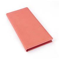 Холдер-блокнот размер 120x230 мм, материал Agenda Satin, цвет - розовый