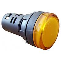 Светосигнальная арматура AD22-22DS желтая 220В АC, АСКО-УКРЕМ, A0140030046