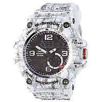 Электронные часы Casio G-Shock GG-1000 Mud-White, спортивные часы Джи Шок белый камуфляж, реплика, отличное качество!