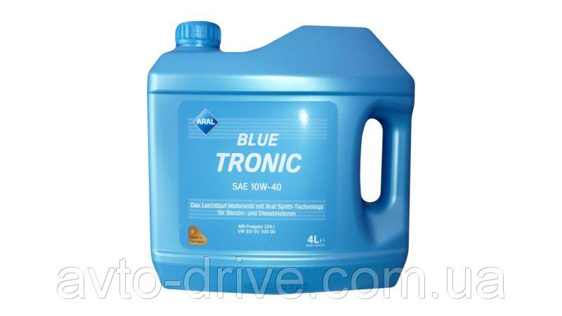Полусинтетическое моторное  масло Aral 10w-40 Blue tronic 4l