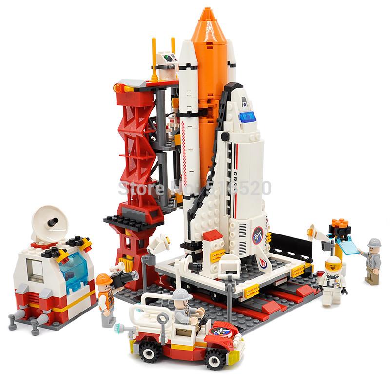 Хороший конструктор для детей GUDI космодром,доставка из Китая.