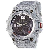 Электронные часы Casio G-Shock GG-1000 Mud-Gray, спортивные часы Джи Шок серый камуфляж