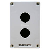 Корпус поста управления 2-местный HJ9-2 белый , АСКО-УКРЕМ, A0140020028/693679