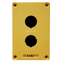 Корпус поста управления 2-местный HJ9-2 желтый, АСКО-УКРЕМ, A0140020028/689163