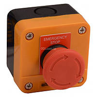 Пост кнопочный одноместный «СТОП» грибок с фиксацией (возврат поворотом) XAL-J174, АСКО-УКРЕМ, A0140020010