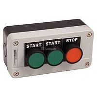 Пост кнопочный трехместный «ПУСК1-ПУСК2-СТОП» XAL-B361Н29, АСКО-УКРЕМ, A0140020008