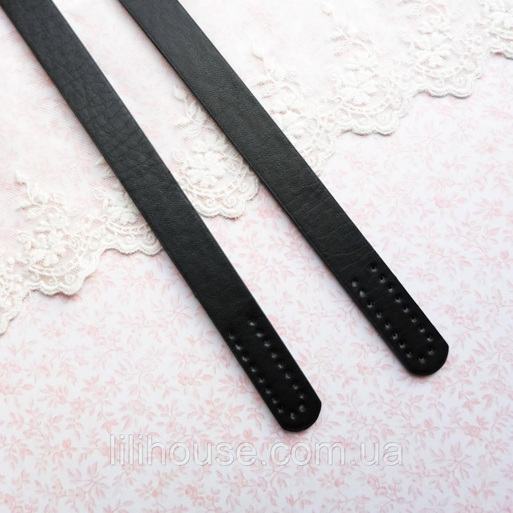Ручки для сумки 55 см, черные - пара