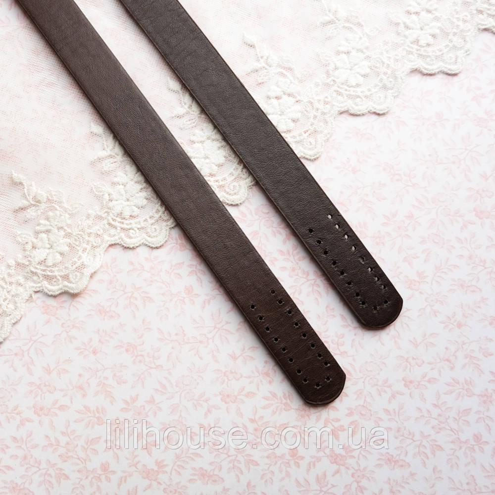Ручки для сумки 55 см, темно-коричневые - пара