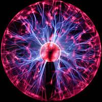 Плазменный шар Тесла 12см., магический шар с молниями ночник!, фото 1