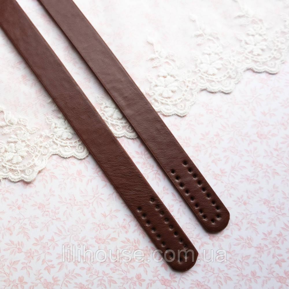 Ручки для сумки 55 см, светло-коричневые - пара