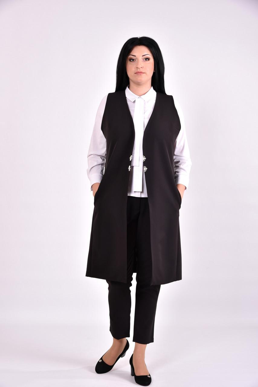 Женская черная жилетка | 0586-3