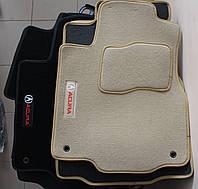 Коврики в салон Acura MDX 2007- (3 шт.) Fortuna беж.