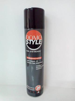 Лак для волосся NEW (4 супер сильна фіксація) (а/б 300 мл) DOMO STYLE , фото 2