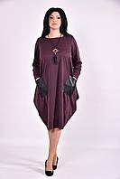 Бисквитное платье туника из трикотажа | 0594-3