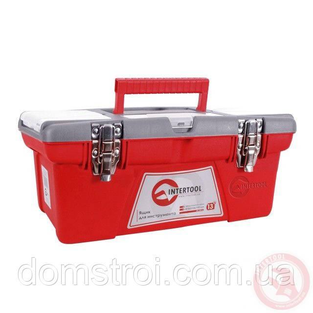 "Ящик для инструмента с металлическими замками 13"" 335x185x130 мм INTERTOOL BX-0513"