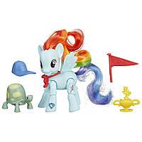 Пони Рэйнбоу Дэш с артикуляцией My Little Pony Friendship Is Magic Rainbow Dash Winning Kick Poseable Pony , фото 1