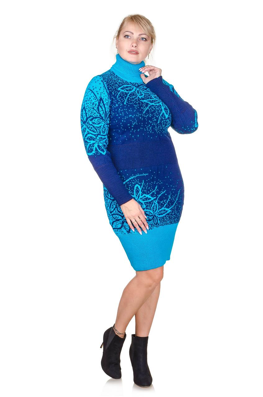 Вязаное платье  Maya голубой (46-48)
