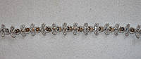 Тесьма декоративная люрекс серебро  6128, фото 1