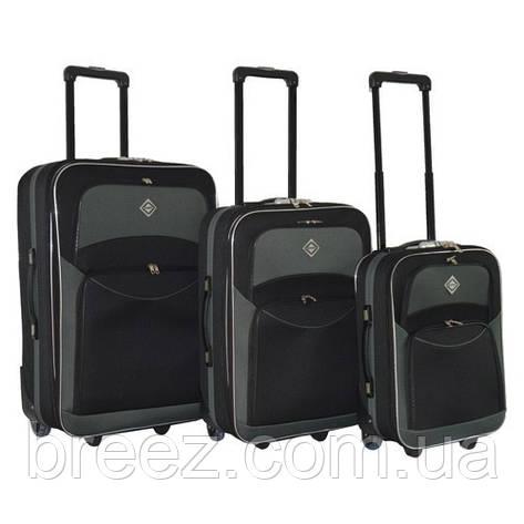 Чемодан Bonro Best набор 3 штуки черно-серый, фото 2