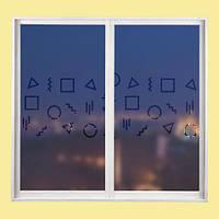 """Интерьерная наклейка на окно """"на окно Фигурки"""""""