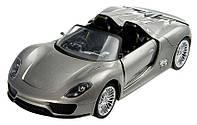 Машинка р/у 1:24 Meizhi лиценз. Porsche 918 металлическая (серый)