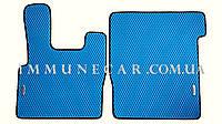 EVA ковры в кабину для DAF XF 105 синего цвета