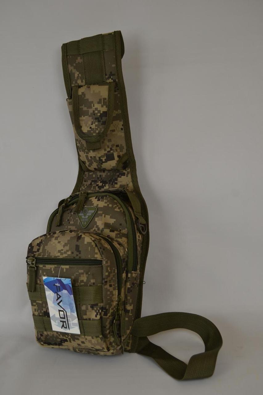 Тактическая сумка через плечо 611-01-ц