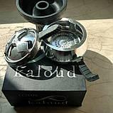 Силиконовая чаша для кальяна фанел черная + Kaloud Lotus 2 ручки  AMY Deluxe, фото 2