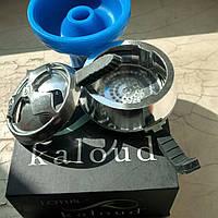 Комплект Силиконовая чаша фанел самсарис синий цвет  для кальяна  и Kaloud Lotus калауд лотос 2 ручки