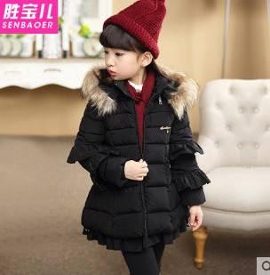 Куртка зимняя детская трапеция с рюшами, фото 2