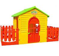 Детский игровой домик XXXL 205см с заборчиком