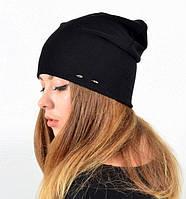 Трикотажная женская шапка