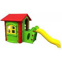 Детский домик игровой с горкой