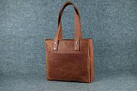 Женская кожаная сумка Shopper   Винтаж Коньяк, фото 1