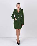 Женское пальто двубортное с капюшоном М1268