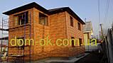 """Металлический Блок -Хаус """"Бревно тип 1"""" цвет- Ольха , Китай, фото 6"""