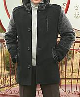 """Мужское пальто """" Капюшон стойка """""""