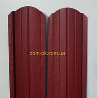 Штакет металлический 108мм  RAL 3005 матовый двухсторонний (0.5мм ) Металл Корея 0,5мм